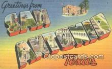 LLT201084 - San Antonio, Texas USA Large Letter Town Vintage Postcard Old Post Card Antique Postales, Cartes, Kartpostal