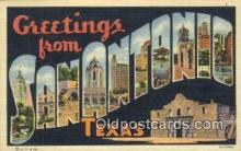 LLT201085 - San Antonio, Texas USA Large Letter Town Vintage Postcard Old Post Card Antique Postales, Cartes, Kartpostal