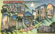 LLT201087 - San Antonio, Texas USA Large Letter Town Vintage Postcard Old Post Card Antique Postales, Cartes, Kartpostal