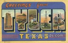 LLT201088 - Tyler, Texas USA Large Letter Town Vintage Postcard Old Post Card Antique Postales, Cartes, Kartpostal