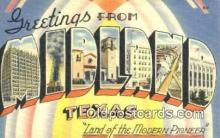 LLT201103 - Midland, Texas USA Large Letter Town Vintage Postcard Old Post Card Antique Postales, Cartes, Kartpostal