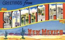 LLT201109 - Santa Fe, New Mexico USA Large Letter Town Vintage Postcard Old Post Card Antique Postales, Cartes, Kartpostal