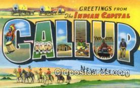 LLT201119 - Gallup, New Mexico USA Large Letter Town Vintage Postcard Old Post Card Antique Postales, Cartes, Kartpostal