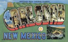 LLT201120 - Carlsbad, New Mexico USA Large Letter Town Vintage Postcard Old Post Card Antique Postales, Cartes, Kartpostal