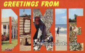 LLT201123 - Dixie USA Large Letter Town Vintage Postcard Old Post Card Antique Postales, Cartes, Kartpostal