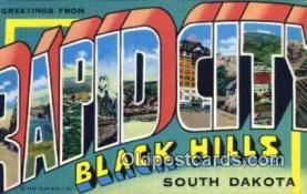 LLT201127 - Rapid City Black Hills, South Dakota USA Large Letter Town Vintage Postcard Old Post Card Antique Postales, Cartes, Kartpostal