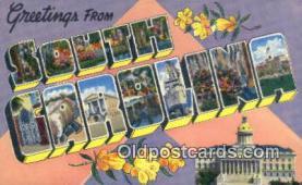 LLT201131 - South Carolina USA Large Letter Town Vintage Postcard Old Post Card Antique Postales, Cartes, Kartpostal