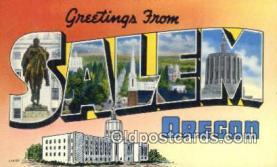 LLT201133 - Salem, Oregon USA Large Letter Town Vintage Postcard Old Post Card Antique Postales, Cartes, Kartpostal
