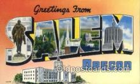 LLT201134 - Salem, Oregon USA Large Letter Town Vintage Postcard Old Post Card Antique Postales, Cartes, Kartpostal