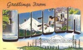 LLT201138 - Oregon USA Large Letter Town Vintage Postcard Old Post Card Antique Postales, Cartes, Kartpostal