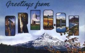 LLT201139 - Oregon USA Large Letter Town Vintage Postcard Old Post Card Antique Postales, Cartes, Kartpostal