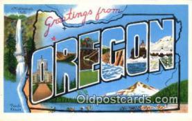 LLT201140 - Oregon USA Large Letter Town Vintage Postcard Old Post Card Antique Postales, Cartes, Kartpostal