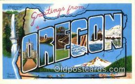 LLT201142 - Oregon USA Large Letter Town Vintage Postcard Old Post Card Antique Postales, Cartes, Kartpostal