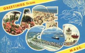 LLT201146 - Cape Cod, Mass USA Large Letter Town Vintage Postcard Old Post Card Antique Postales, Cartes, Kartpostal