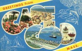 LLT201147 - Cape Cod, Mass USA Large Letter Town Vintage Postcard Old Post Card Antique Postales, Cartes, Kartpostal