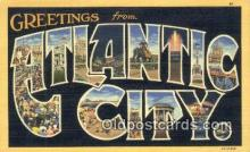 LLT201150 - Atlantic City USA Large Letter Town Vintage Postcard Old Post Card Antique Postales, Cartes, Kartpostal