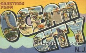 LLT201151 - Ocean City, NJ USA Large Letter Town Vintage Postcard Old Post Card Antique Postales, Cartes, Kartpostal