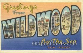 LLT201153 - Wildwood by the Sea, New Jersey USA Large Letter Town Vintage Postcard Old Post Card Antique Postales, Cartes, Kartpostal
