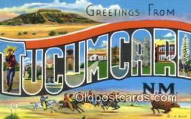 LLT201155 - Tucumcari, NM USA Large Letter Town Vintage Postcard Old Post Card Antique Postales, Cartes, Kartpostal
