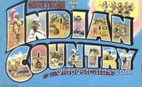 LLT201157 - Indian Country USA Large Letter Town Vintage Postcard Old Post Card Antique Postales, Cartes, Kartpostal