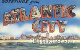 LLT201169 - Atlantic City USA Large Letter Town Vintage Postcard Old Post Card Antique Postales, Cartes, Kartpostal
