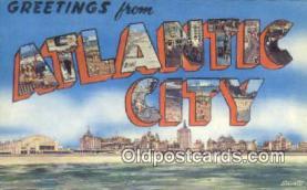 LLT201170 - Atlantic City USA Large Letter Town Vintage Postcard Old Post Card Antique Postales, Cartes, Kartpostal