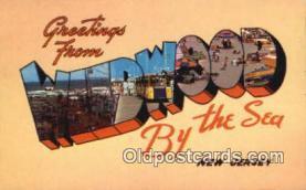 LLT201172 - Wildwood by the Sea, New Jersey USA Large Letter Town Vintage Postcard Old Post Card Antique Postales, Cartes, Kartpostal