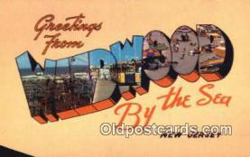 LLT201173 - Wildwood by the Sea, New Jersey USA Large Letter Town Vintage Postcard Old Post Card Antique Postales, Cartes, Kartpostal