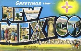 LLT201174 - New Mexico USA Large Letter Town Vintage Postcard Old Post Card Antique Postales, Cartes, Kartpostal