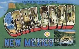 LLT201182 - Carlsbad, New Mexico USA Large Letter Town Vintage Postcard Old Post Card Antique Postales, Cartes, Kartpostal