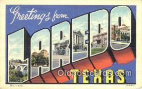 LLT201187 - Laredo, Texas USA Large Letter Town Vintage Postcard Old Post Card Antique Postales, Cartes, Kartpostal