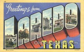 LLT201188 - Laredo, Texas USA Large Letter Town Vintage Postcard Old Post Card Antique Postales, Cartes, Kartpostal