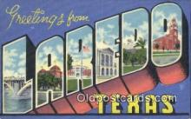 LLT201189 - Laredo, Texas USA Large Letter Town Vintage Postcard Old Post Card Antique Postales, Cartes, Kartpostal