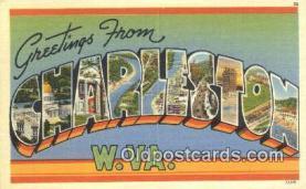 LLT201192 - Charleston, W VA USA Large Letter Town Vintage Postcard Old Post Card Antique Postales, Cartes, Kartpostal