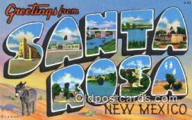 LLT201196 - Santa Rosa, New Mexico USA Large Letter Town Vintage Postcard Old Post Card Antique Postales, Cartes, Kartpostal