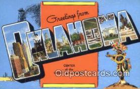 LLT201197 - Oklahoma USA Large Letter Town Vintage Postcard Old Post Card Antique Postales, Cartes, Kartpostal