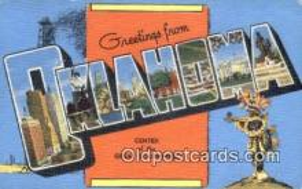 LLT201198 - Oklahoma USA Large Letter Town Vintage Postcard Old Post Card Antique Postales, Cartes, Kartpostal