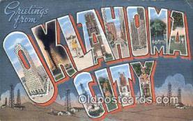 LLT201205 - Oklahoma City USA Large Letter Town Vintage Postcard Old Post Card Antique Postales, Cartes, Kartpostal