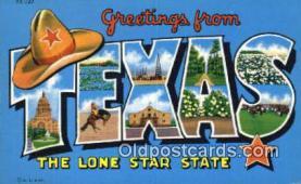 LLT201206 - Texas USA Large Letter Town Vintage Postcard Old Post Card Antique Postales, Cartes, Kartpostal