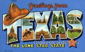 LLT201207 - Texas USA Large Letter Town Vintage Postcard Old Post Card Antique Postales, Cartes, Kartpostal