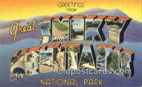 LLT201208 - Smoky Mountains National Park USA Large Letter Town Vintage Postcard Old Post Card Antique Postales, Cartes, Kartpostal