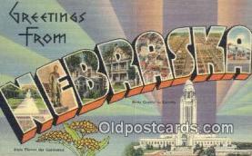 LLT201209 - Nebraska USA Large Letter Town Vintage Postcard Old Post Card Antique Postales, Cartes, Kartpostal