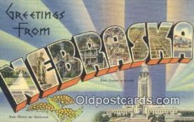 LLT201210 - Nebraska USA Large Letter Town Vintage Postcard Old Post Card Antique Postales, Cartes, Kartpostal