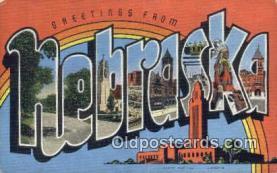 LLT201212 - Nebraska USA Large Letter Town Vintage Postcard Old Post Card Antique Postales, Cartes, Kartpostal