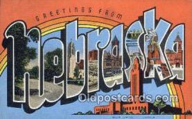 LLT201213 - Nebraska USA Large Letter Town Vintage Postcard Old Post Card Antique Postales, Cartes, Kartpostal
