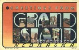 LLT201215 - Grand Island, Nebraska USA Large Letter Town Vintage Postcard Old Post Card Antique Postales, Cartes, Kartpostal