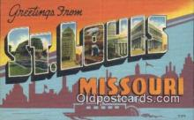 LLT201217 - St Louis, Missouri USA Large Letter Town Vintage Postcard Old Post Card Antique Postales, Cartes, Kartpostal