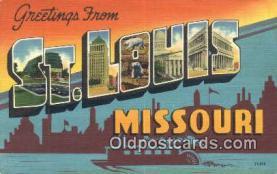 LLT201218 - St Louis, Missouri USA Large Letter Town Vintage Postcard Old Post Card Antique Postales, Cartes, Kartpostal