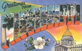 LLT201221 - Mississippi USA Large Letter Town Vintage Postcard Old Post Card Antique Postales, Cartes, Kartpostal