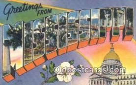 LLT201222 - Mississippi USA Large Letter Town Vintage Postcard Old Post Card Antique Postales, Cartes, Kartpostal